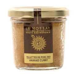 Rillettes Pur Porc BIO Ananas Curry 90g